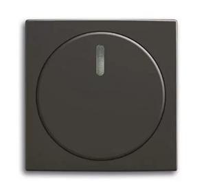 Изображение ABB BJB Basic 55 Шато (чёрн) Накладка светорегулятора поворотного для механизмов диммеров BJE