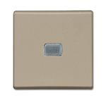 Изображение ABB BJB Basic 55 Шамп Выключатель кнопочный 1-клавишный, с линзой, без лампы, НО контакт