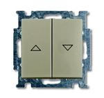 Изображение ABB BJB Basic 55 Шамп Выключатель жалюзийный кнопочный