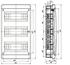 Изображение BVN 40-36-1 Щит встраиваемый 36 мод. IP40 непрозрачная черная дверца Tekfor