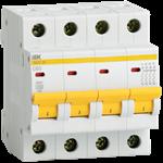 Изображение IEK Автоматический выключатель ВА47-29 4Р 10А 4,5кА х-ка С