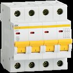 Изображение IEK Автоматический выключатель ВА47-29 4Р 63А 4,5кА х-ка С