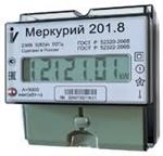 Изображение Счетчик электроэнергии однофазный однотарифный Меркурий 201.8 5/80А Т1 D 230В ЖК (201.8)