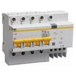 Изображение IEK Дифференциальный автоматический выключатель АД14 4Р 32А 30мА