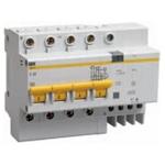 Изображение IEK Дифференциальный автоматический выключатель АД14 4Р 50А 30мА