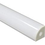 Изображение Профиль угловой алюминиевый 2м с матовым экраном 2 заглушки 4 крепежа для светодиодных лент CAB280 Feron