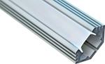 Изображение Профиль угловой алюминиевый 2м матовый экран 2 заглушки 4 крепежа для светодиодных лент CAB272 Feron