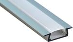 Изображение Профиль встраиваемый алюминиевый 2м матовый экран 2 заглушки для светодиодных лент CAB251 Feron