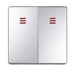 Изображение 82025-93 Клавиша для 2кл выключателя с подсветкой , S82 Detail, алюминий