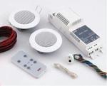 """Изображение 40404 KBSound Basic Встраиваемое Радио Комплект: Радио+Пульт+2 Колонки 2"""" Белые"""