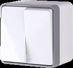 Изображение Выключатель двухклавишный влагозащищенный Gallant (белый)