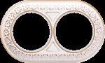 Изображение Рамка на 2 поста (белое золото)