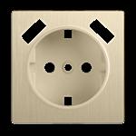 Изображение Накладка  для розетки USB (шампань рифленый)