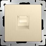 Изображение Розетка Ethernet RJ-45 (шампань рифленый)