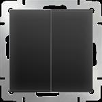 Изображение Выключатель двухклавишный (черный матовый)