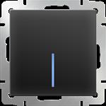 Изображение Выключатель одноклавишный проходной с подсветкой (черный матовый)