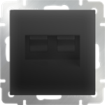 Изображение Розетка двойная Ethernet RJ-45 (черный матовый)