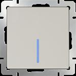 Изображение Выключатель одноклавишный с подсветкой (слоновая кость)