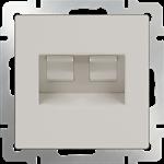 Изображение Розетка двойная Ethernet RJ-45  (слоновая кость)