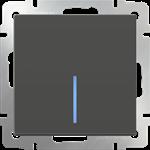 Изображение Выключатель одноклавишный  с подсветкой (серо-коричневый)