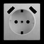Изображение Накладка  для розетки USB (cеребряный рифленый)
