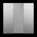 Изображение Набор клавиш для выключателя трехклавишного (cеребряный рифленый)