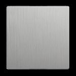 Изображение Клавиша для выключателя перекрестного (серебряный рифленый)
