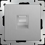 Изображение Розетка Ethernet RJ-45 (cеребряный рифленый)