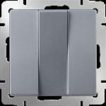 Изображение Выключатель трехклавишный  (серебряный)