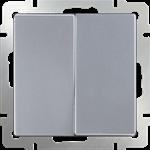 Изображение Выключатель двухклавишный проходной (серебряный)