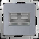 Изображение Розетка двойная Ethernet RJ-45  (серебряный)