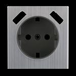 Изображение Накладка для USB розетки (глянцевый никель)