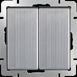 Изображение Выключатель двухклавишный проходной (глянцевый никель)