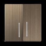 Изображение Набор клавиш для выключателя двухклавишного с подсветкой (бронзовый)