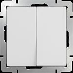 Изображение Выключатель двухклавишный проходной (белый)