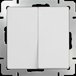 Изображение Выключатель  двухклавишный  (белый)