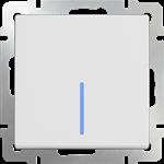 Изображение Выключатель одноклавишный с подсветкой(белый)