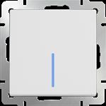 Изображение Выключатель одноклавишный проходной с подсветкой (белый)