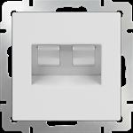 Изображение Розетка двойная Ethernet RJ-45 (белая)