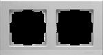 Изображение Рамка на 2 поста (серебряный)
