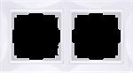 Изображение Рамка на 2 поста (белый, basic)