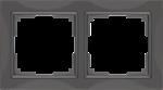 Изображение Рамка на 2 поста (серо-коричневый, basic)