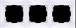 Изображение Рамка на 3 поста (белый, basic)