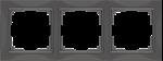Изображение Рамка на 3 поста (серо-коричневый, basic)