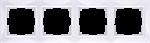 Изображение Рамка на 4 поста (белый, basic)