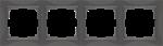 Изображение Рамка на 4 поста (серо-коричневый, basic)
