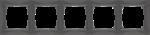 Изображение Рамка на 5 постов (серо-коричневый, basic)