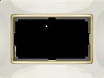 Изображение Рамка для двойной розетки (слоновая кость/золото)