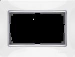 Изображение Рамка для двойной розетки (белый)