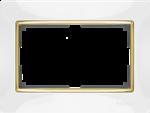 Изображение Рамка для двойной розетки (белый/золото)